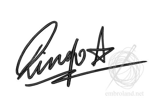 Ringo Starr Signature Autograph Machine Embroidery Design
