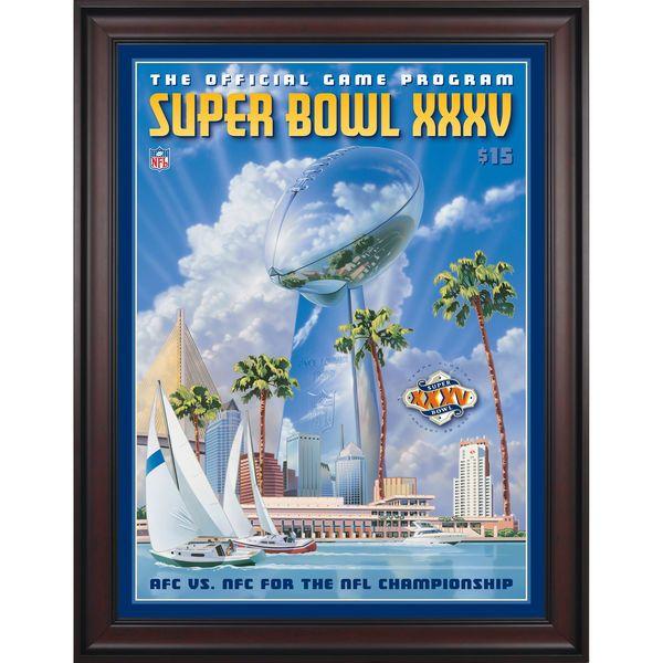 "Fanatics Authentic 2001 Ravens vs. Giants Framed 36"" x 48"" Canvas Super Bowl XXXV Program - $299.99"