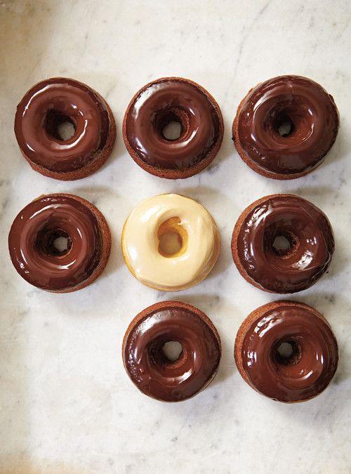 Beignes au four, glacés au chocolat Recettes | Ricardo