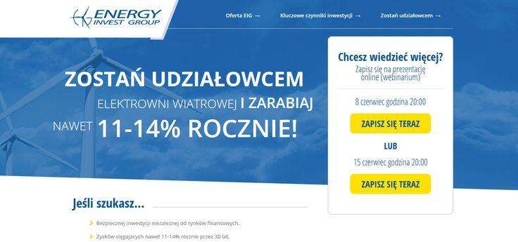 Inwestycje w OZE - zostań udziałowcem elektrowni i zarabiaj nawet 11-14% rocznie!