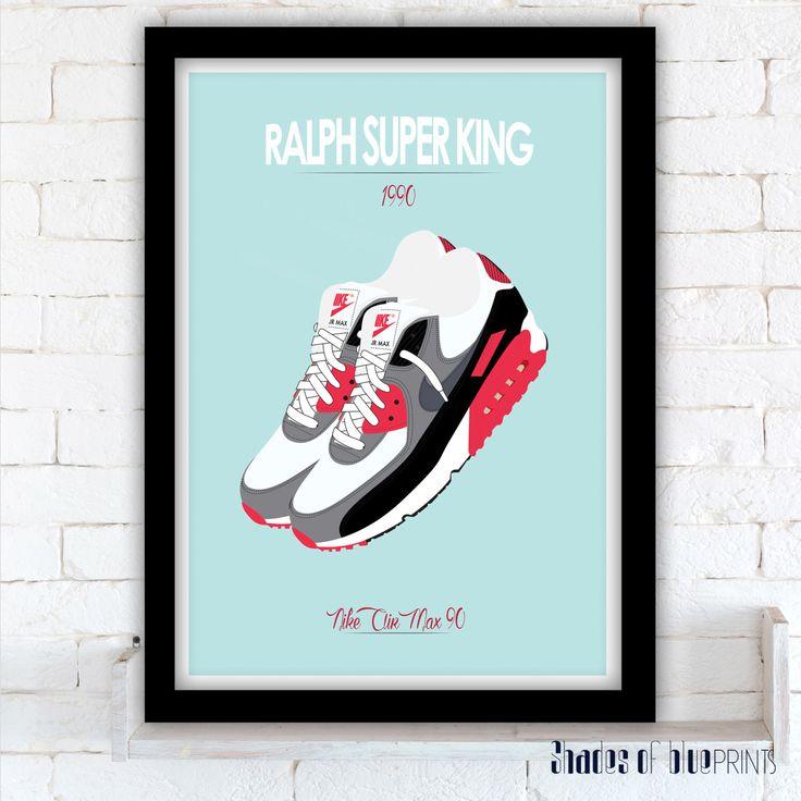 Ralph Super King - Nike Air Max 90 Infrared - David S. Ward - 1991 par ShadesOfBluePrints sur Etsy https://www.etsy.com/fr/listing/264500348/ralph-super-king-nike-air-max-90