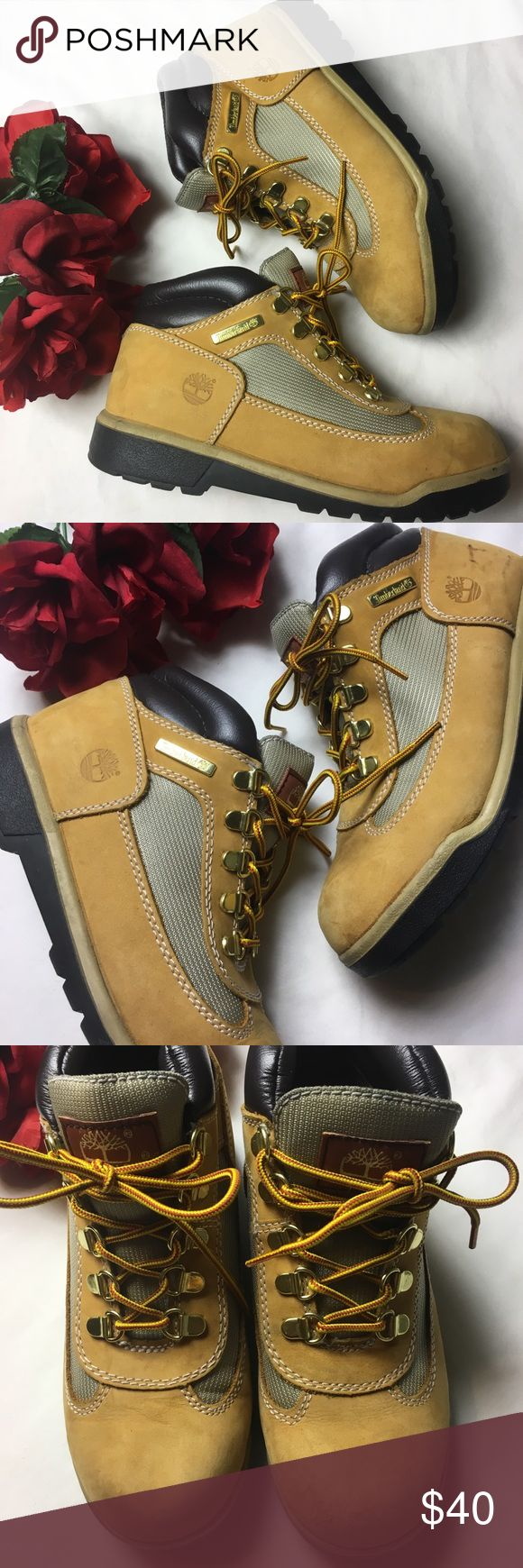 Boys timberland hikers Sz 5 Great used condition. Light spots! Very slight scuffings. Has a lot of wear left! Timberland Shoes Boots