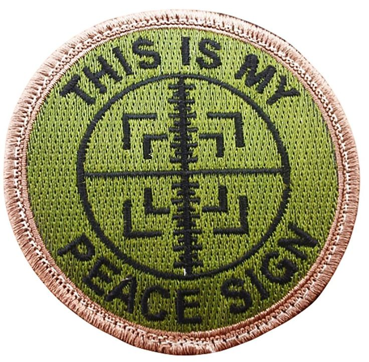"""Amazon.com: [Single Count] Custom, Cool & Awesome {3"""" Inches} Small Round US Armed This I s My Peace Sign Text Sniper Scope Cross Hairs (Tactical Type) Velcro Patch """"Green, Tan & Black"""": Arts, Crafts & Sewing"""