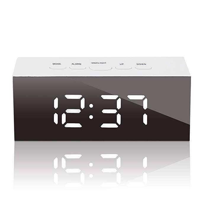 Gloue Led Digital Alarm Clock Usb Port And Battery Operated Alarm Clocks Bedside Temperature Di Battery Operated Alarm Clock Alarm Clock Digital Alarm Clock