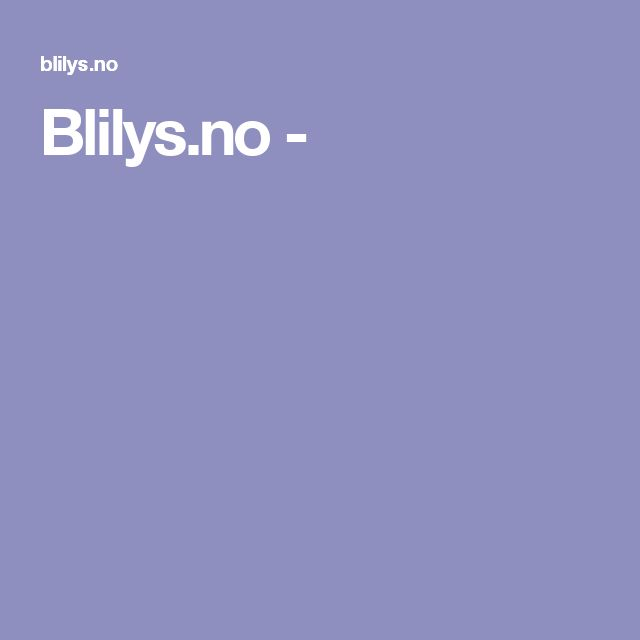 Blilys.no -