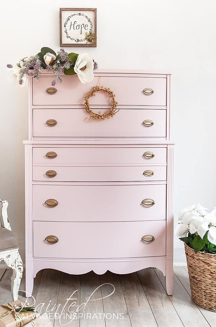 Christmas Styled Pink Champagne Painted Dresser Diy Mobel