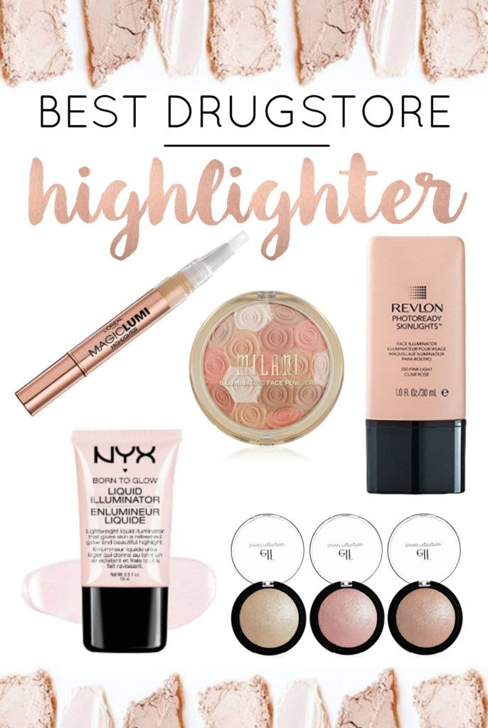 Everyone wants a gorgeous glow! These are the best drugstore highlighters - apply to cheekbones, brow bones, bridge of nose for a glowy look!