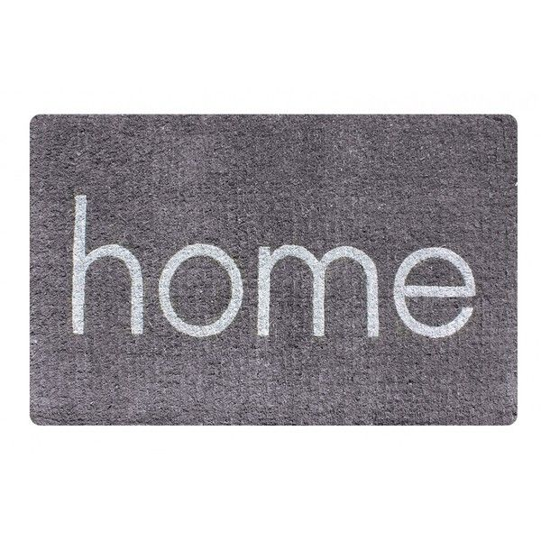 Home Grey Oversized Doormat (68 CAD) ❤ liked on Polyvore featuring home, outdoors, outdoor decor, contemporary door mats and oversized door mats