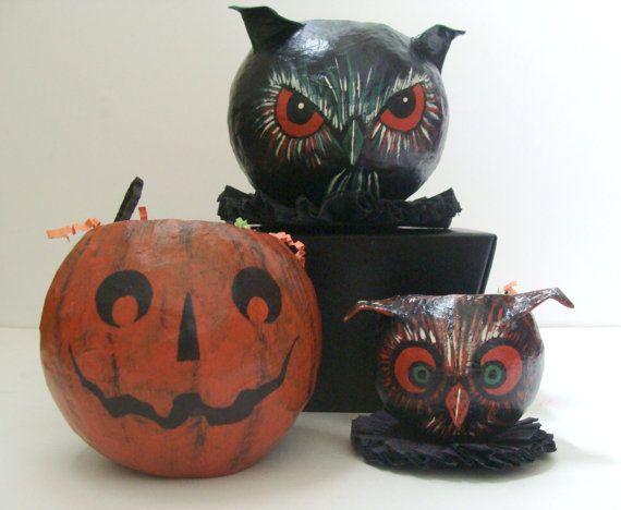 vintage halloween folk art - Vintage Halloween Decorations For Sale
