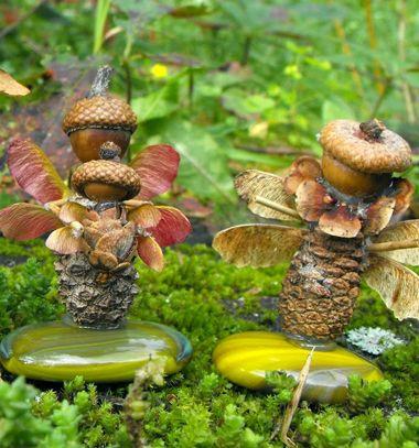 Woodland fairies - fall nature craft for kids // Termés tündérek - kreatív ötlet gyerekeknek őszre // Mindy - craft & DIY tutorial collection