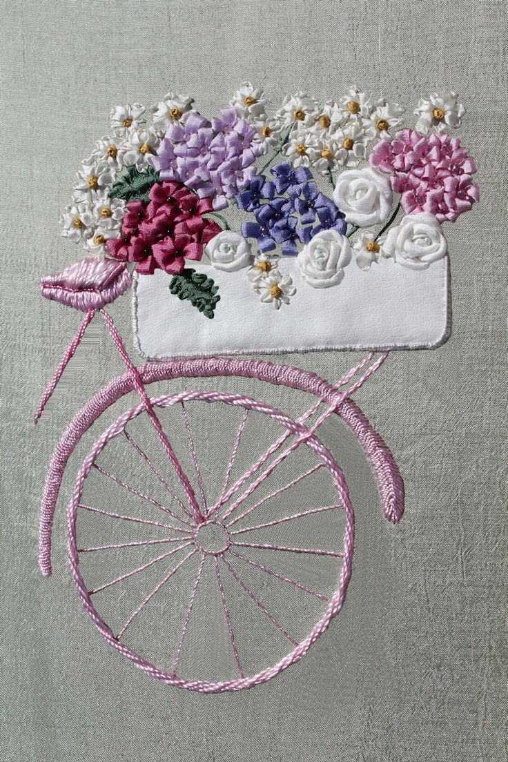Ribbon embroidery bedspread designs - Wa 5 Dg Bicycle Jpg 760 1140