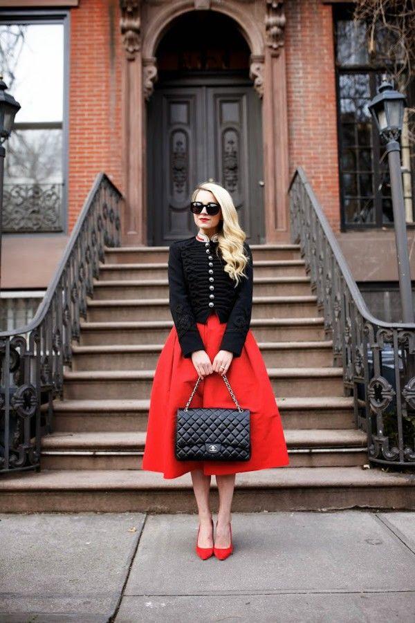 красная юбка клеш - Поиск в Google