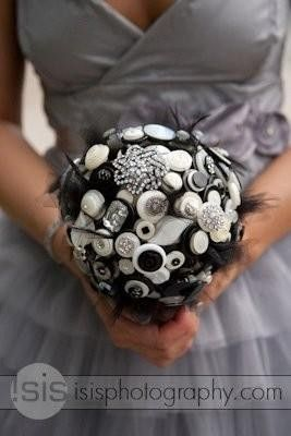 Lillybuds Holly Golightly Button Bouquet.