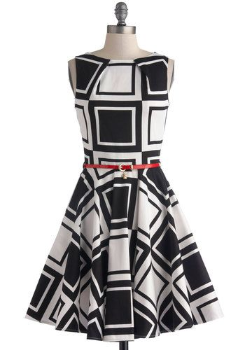 Luck Be a Lady Dress in Dice, #ModCloth