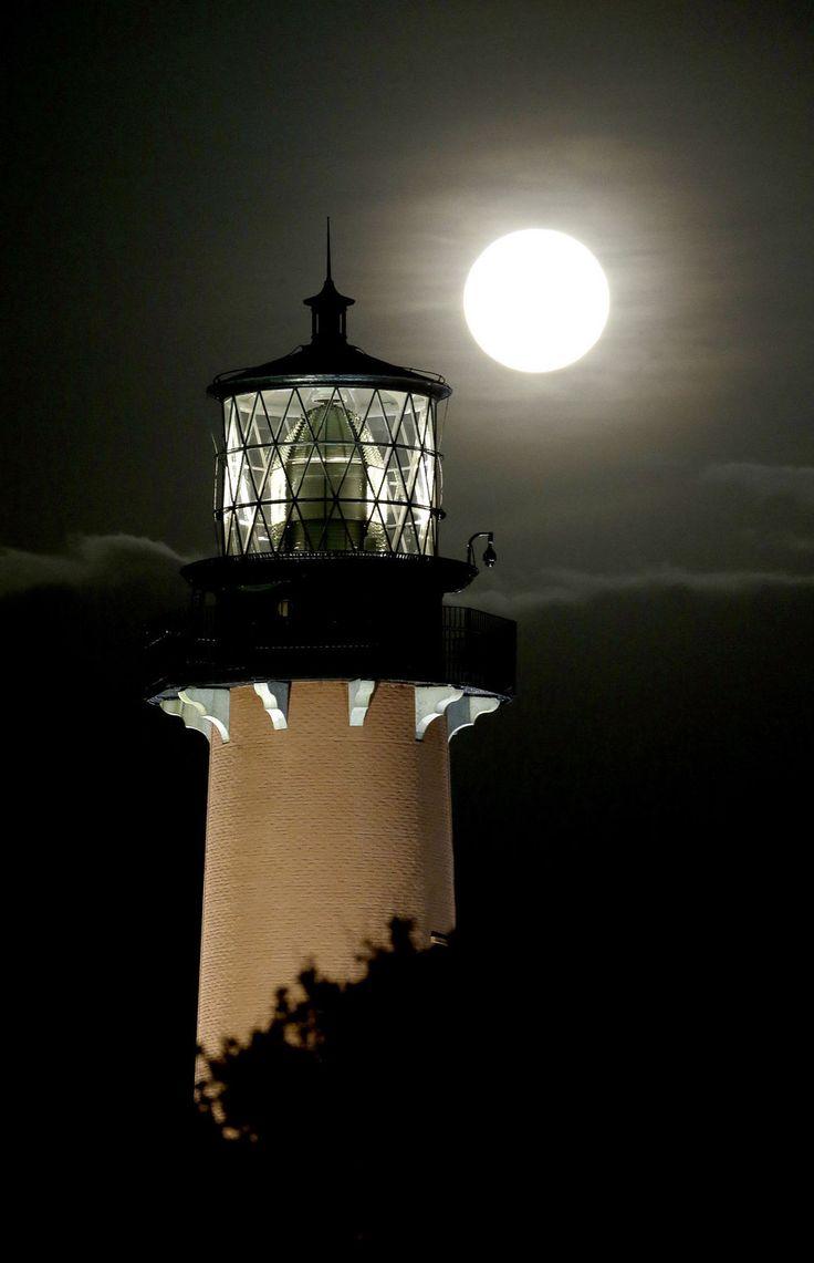 Lighthouse & full moon