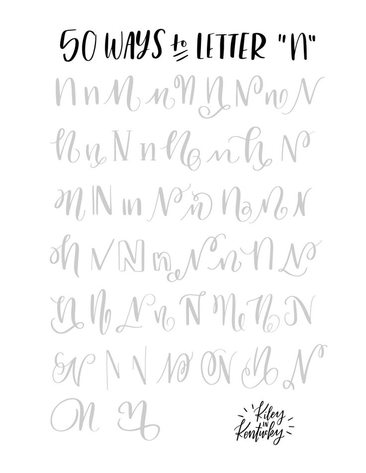 """50 ways to write the letter """"N"""""""