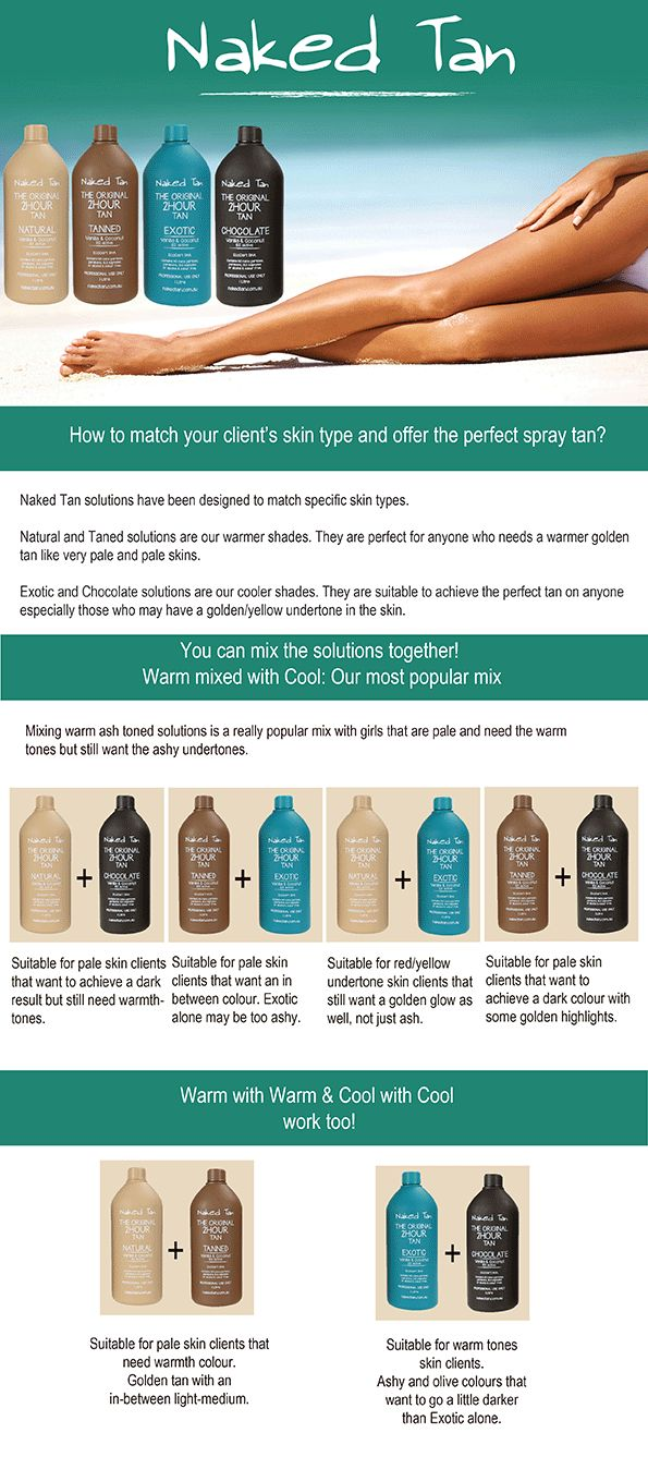 If you have pale skin and want to achieve a darker result but need a golden glow for your next spray tan, here is the tip. Ask your technician to mix Naked Tan's 'Natural' and 'Chocolate' colours together. This special mix will give you a darker golden glow and transform you into a tanned Goddess. Check out this pin for other great Naked Tan combo's! #glamaCo #tip #naked_tan #spraytan