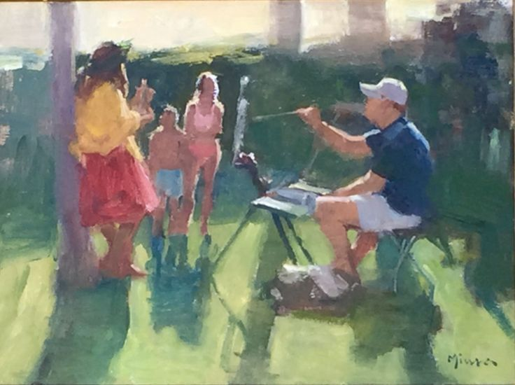 by Terry Miura - John P. Lasater at Maui Plein Air 2017