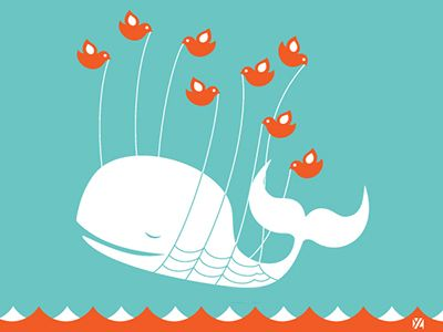 """Fail Whale"" twitter error message design"