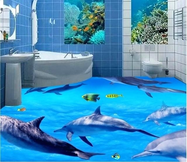 Image Result For Top View Of Painted Dolphin Floor Murals Dolphin Decor Custom Murals