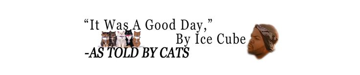 Ice Cube's 'It Was A Good Day' Told By Cats. [website]