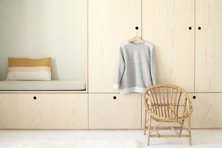 Archi chambre enfant -bois naturel - projet de renovation studio Heju