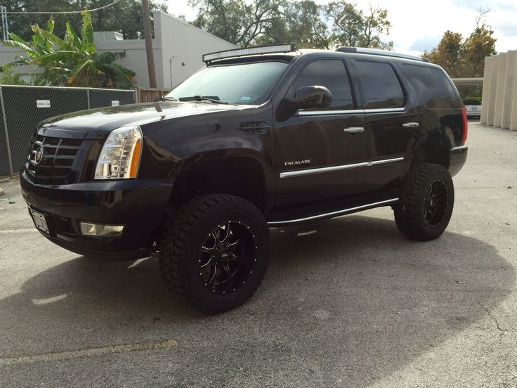 2008 Lifted Cadillac Escalade 7 Quot Lift 54 Quot Cree Led Curved