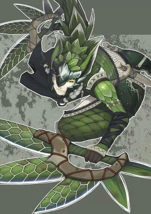 Monster Hunter Green Nargacuga Armor/DualBlades