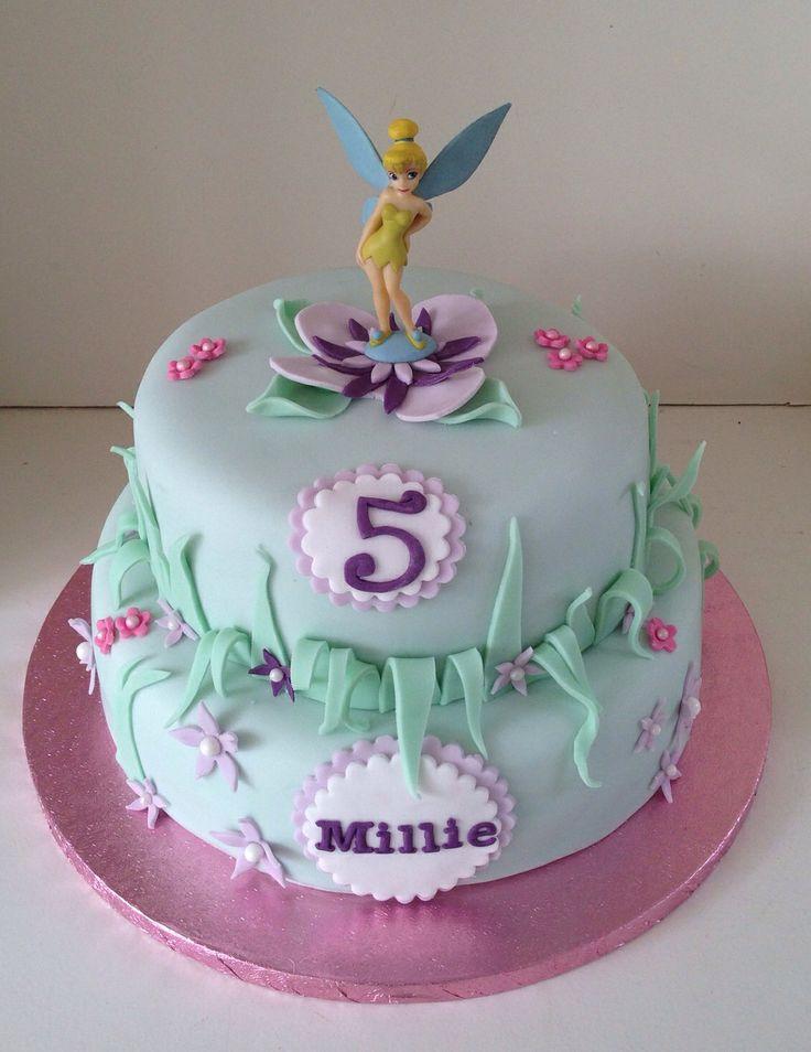 Tinkerbell birthday cake by Boutique Bakehouse www.boutiquebakehouse.co.uk