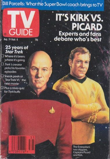 If history has taught us anything, it's that Picard is better by a landslide!  ;) Vintage TV Guide Magazine 1991