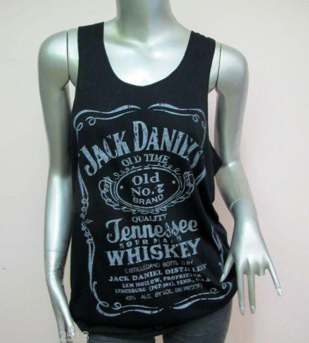 Classic Style Jack Daniels Tank Tops T Shirt Women Sexy Teen Girl Black Sz M L | eBay