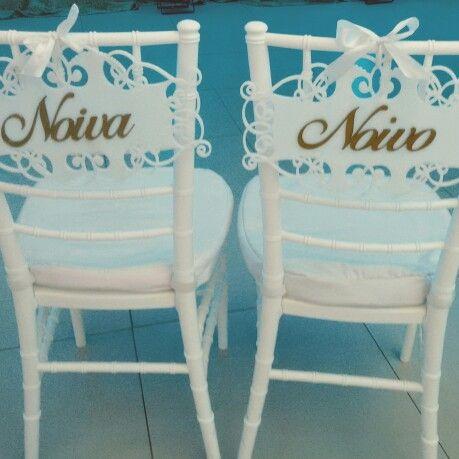 Plaquinhas reservado para os noivos em acrílico