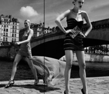 Inspiring picture black and white, bridge, editorial, elena melnik, fashion, girl. Resolution: 400x299 px. Find the picture to your taste!