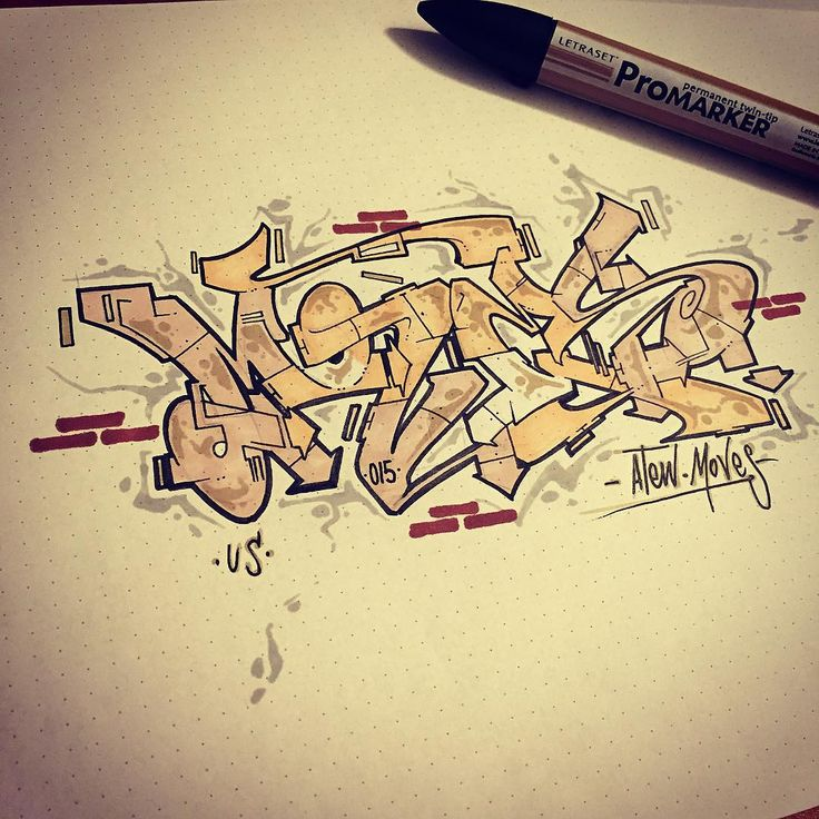 Moves wildstyle by atewone #atew #graffiti #sketchbook #sketch##wildstyle…
