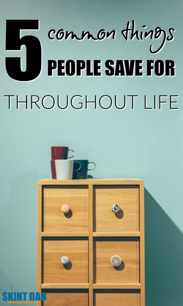 Planning to save money, but not sure what you should be aiming for? Here are the five most common things people save for throughout life.