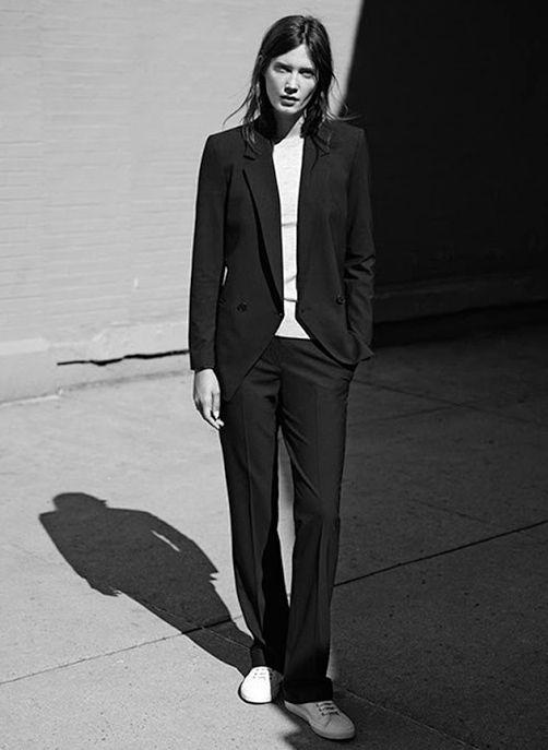 Simple Black Suit // viennawedekind.com                                                                                                                                                                                 More
