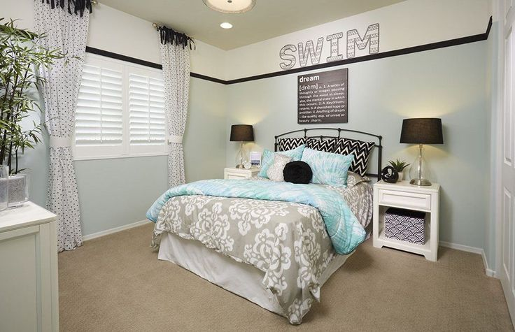 Transitional room with Wire Wall Letters, Teen bedroom