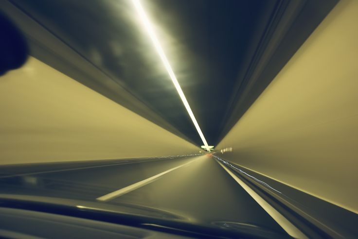 Moving fast, inside of a tunnel near Zurich (Switzerland) on April 2013.