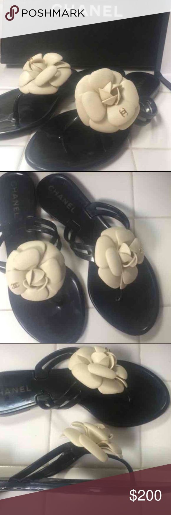 Chanel Camellia Sandals Chanel Camelia Jelly Sandals - gently worn with love still in great condition! CHANEL Shoes Sandals