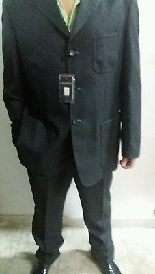Sorbino suit maschile cerimonia giacca pantalone elegante sposo uomo nero tg 56
