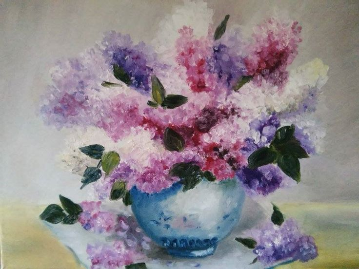 View and buy Bouquet of lilac in the vase oil painting 30*40 by ClaireArtCafe on Etsy