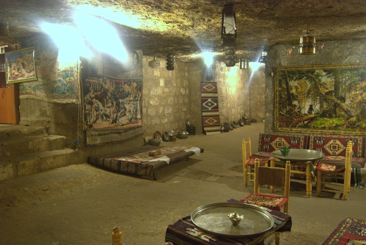 A cave Cafe in Gaziantep city