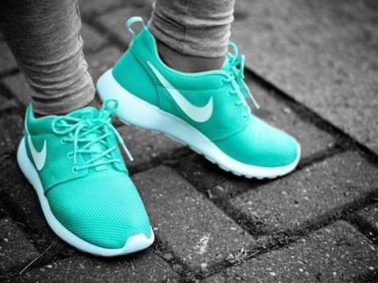 Seafoam green Nike running shoes #running #shoes #fitness #colorsplash