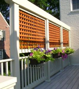 Lattice for deck side - would similar lattice be sturdy enough for far back fence?