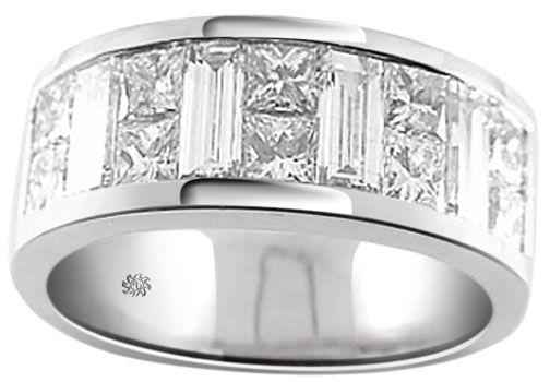 2.87 Carat Beau Mens Diamond Wedding Band