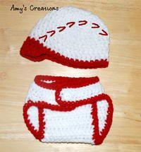 Crochet Baseball Hat & Diaper Cover