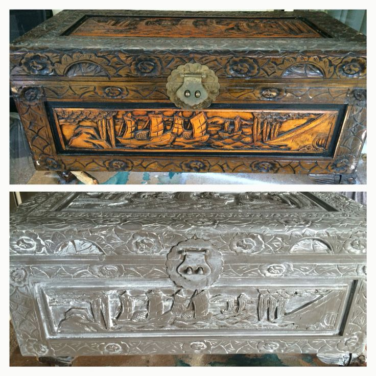 Upcycle of an old wooden treasure box. Removed feet, sanded back, jasper colored paint, then white paint smudged off.