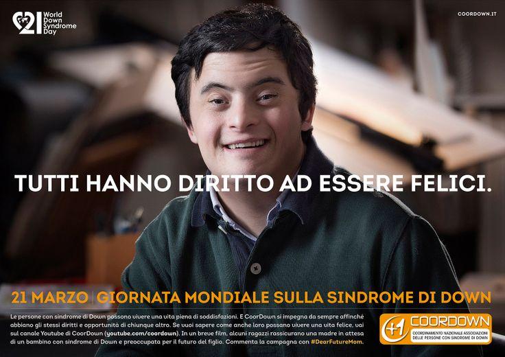 """""""Che vita avrà mio figlio?"""" è la domanda che si pongono tutte le mamme in attesa, ma se al bambino in arrivo è stata diagnosticata la sindrome di Down allora la risposta è questa campagna made in Italy"""