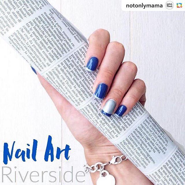 "@notonlymama ha pubblicato la mia nail art ""settembrina""! 💙💙💙 #eglebreme #notonlymama #nails #nailart #naildesigns #nailstagram #instanails #nailpolish #nailartaddicts #nailpolishaddict #manicure #mani #smalto #unghie #kiko #bluepolish #smaltoblu"