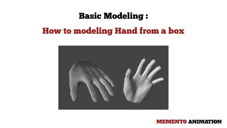 How to modeling 3D hand from a box at www.mementoanimation.com /tutorials section